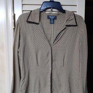 Nine West Skirts - Nine West Brown Paid 100% Silk Suit Set